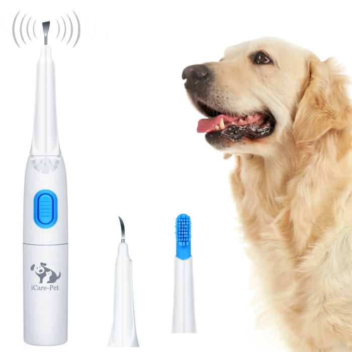 Electric dog toothbrush with 3 tools can remove dental calculus use for home clinic hospital dog teeth cleaner
