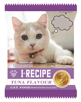 I-RECIPE Dry Cat Food Tuna 400g