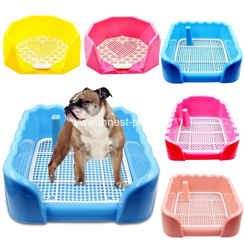 Indoor colorful plastic pet dog toilet