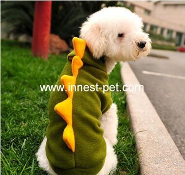 china factory dinosaur shape dog clothes, pet dog clothing