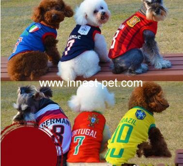 football team dog clothes, dog sports clothes, pet football clothing