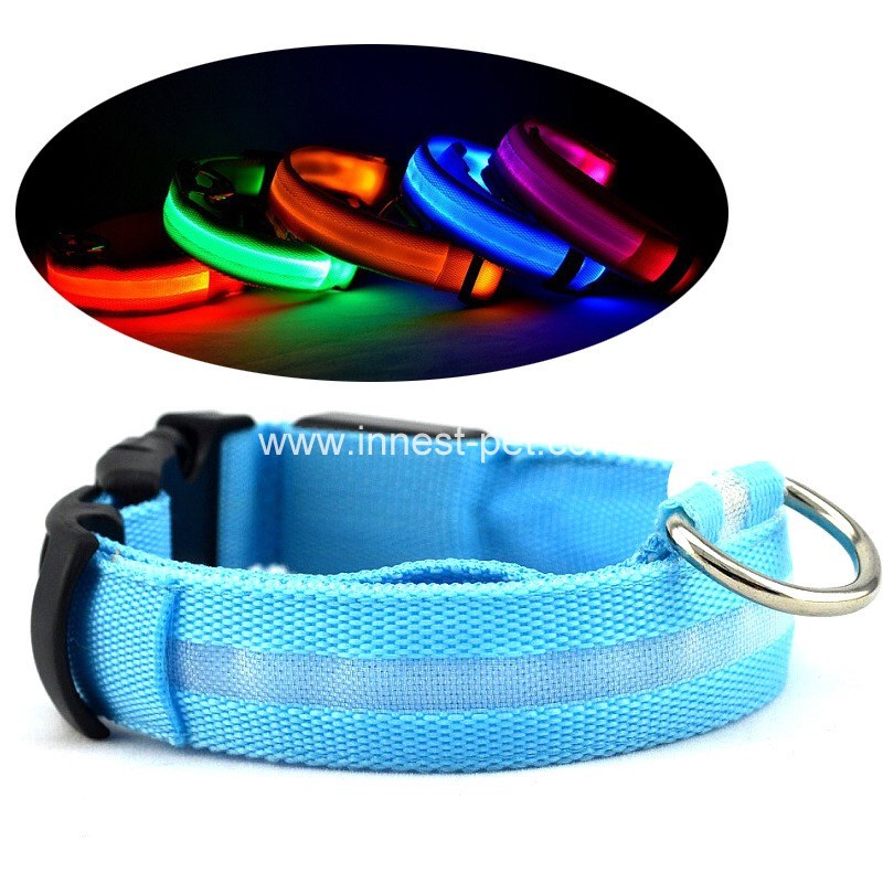 2017 hotselling dog product LED pet dog collar