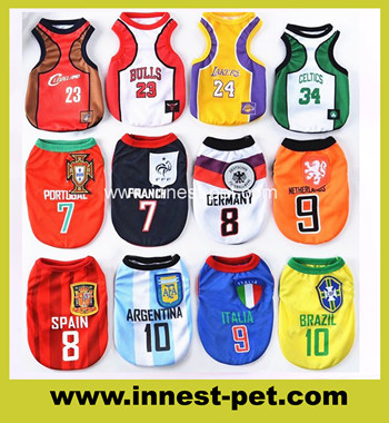 Fooitball Team Dog Clothes, Pet Dog tshirt, Dog Sport Clothing, dog jersey