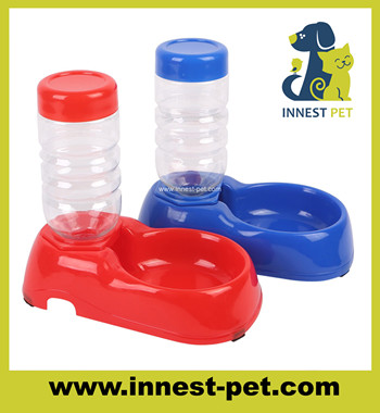 pet accessories FDA standard food grade plastic feeder travelling dog water bottle