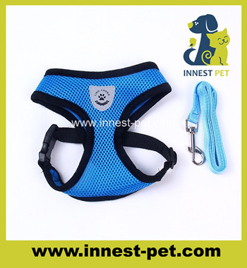 100% polyester mesh pet lead walking harness dog leashes