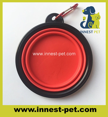 Collapsible silicone dog travel water bowls, dog travel bowl, TPR pet bowl