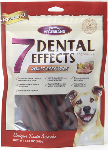Non-rawhide Vegetarian dog dental Chews