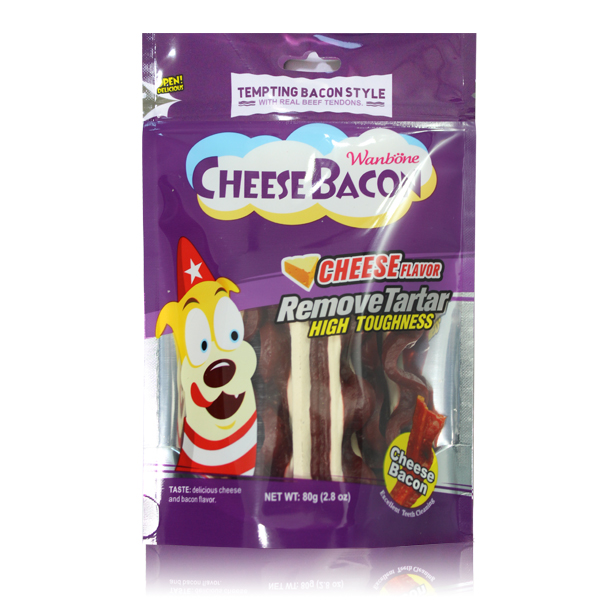 Smoked Bacon Stripes Dog Chews