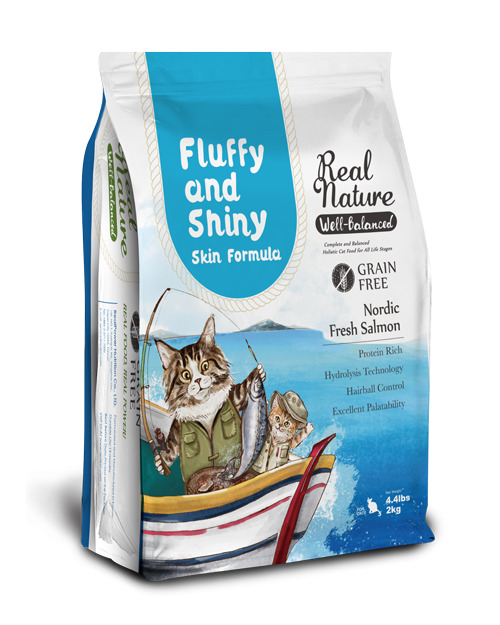 Holistic grain-free cat food for Fluffy and Shiny Skin