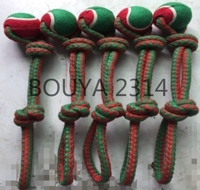 NEW PRODUCT : COTTON ROPE PET TOYS WITH TENNIS BALL 2314