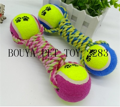Pet Puppy Dog Chew Toy Clean Teeth Training tennis ball 2283