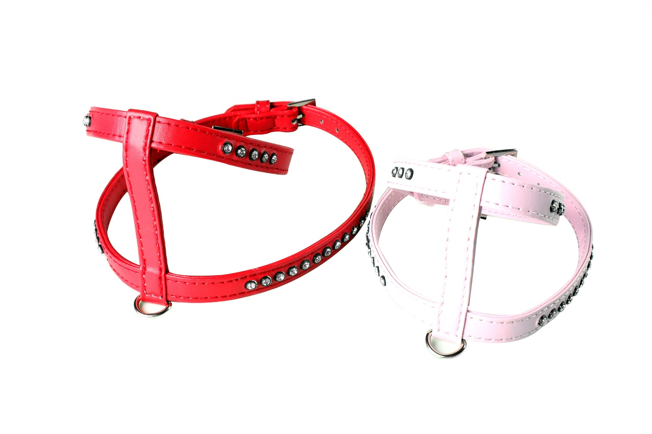 dog harness pet harness with crystal H shape