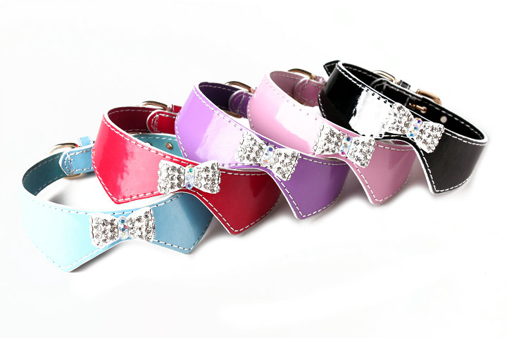 dog collar with bowknot