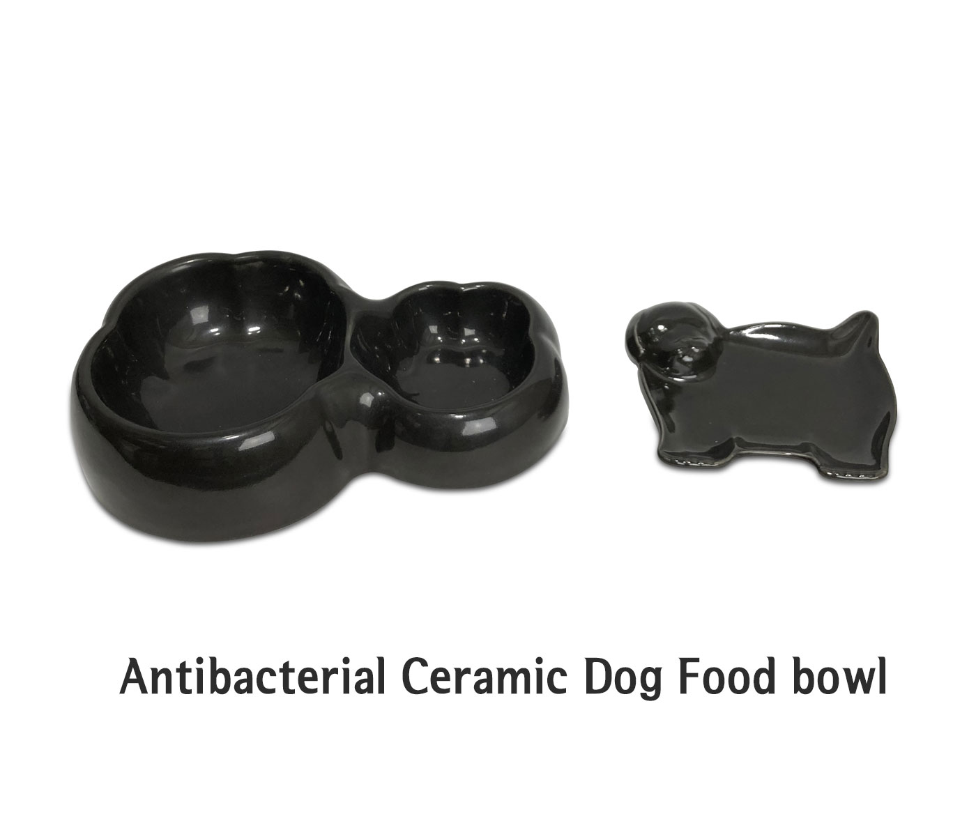Antibacterial & Odor-free Dog Ceramic Bowl, Feeder, Food dish