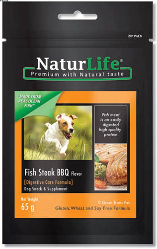 NaturLife Dog Snacks - Fish BBQ Flavour ( Digestive Care formula)