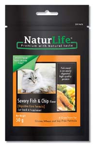 NaturLife Cat Snacks - Fish & Chip Flavour ( Digestive Care form)