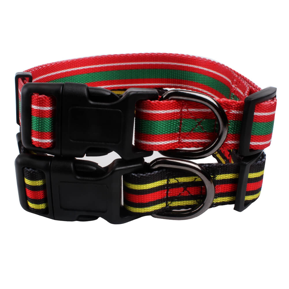 Custom dog collars: polyester glossy training collars-qqpets.com