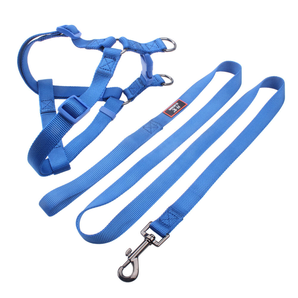 Hot sale solids dog harness and leads nylon ribbon