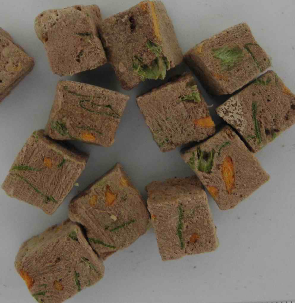 freeze dried beef liver&spinach with carrot