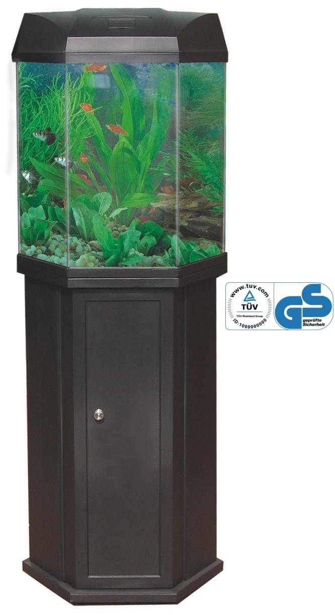 Desktop aquariums aquarium tanks furniture fish bowls for Hexagon fish tank