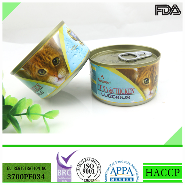 Tuna & Chicken Canned Cat Food