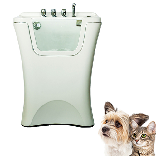 freestanding dog spa bathtub,with led colorful light,bubble,CE,ISO9001 certificatted