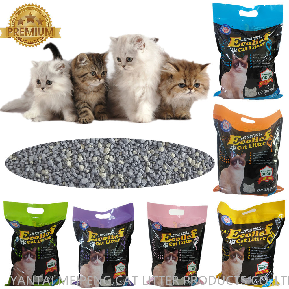 high quality bentonite clumping cat litter sand