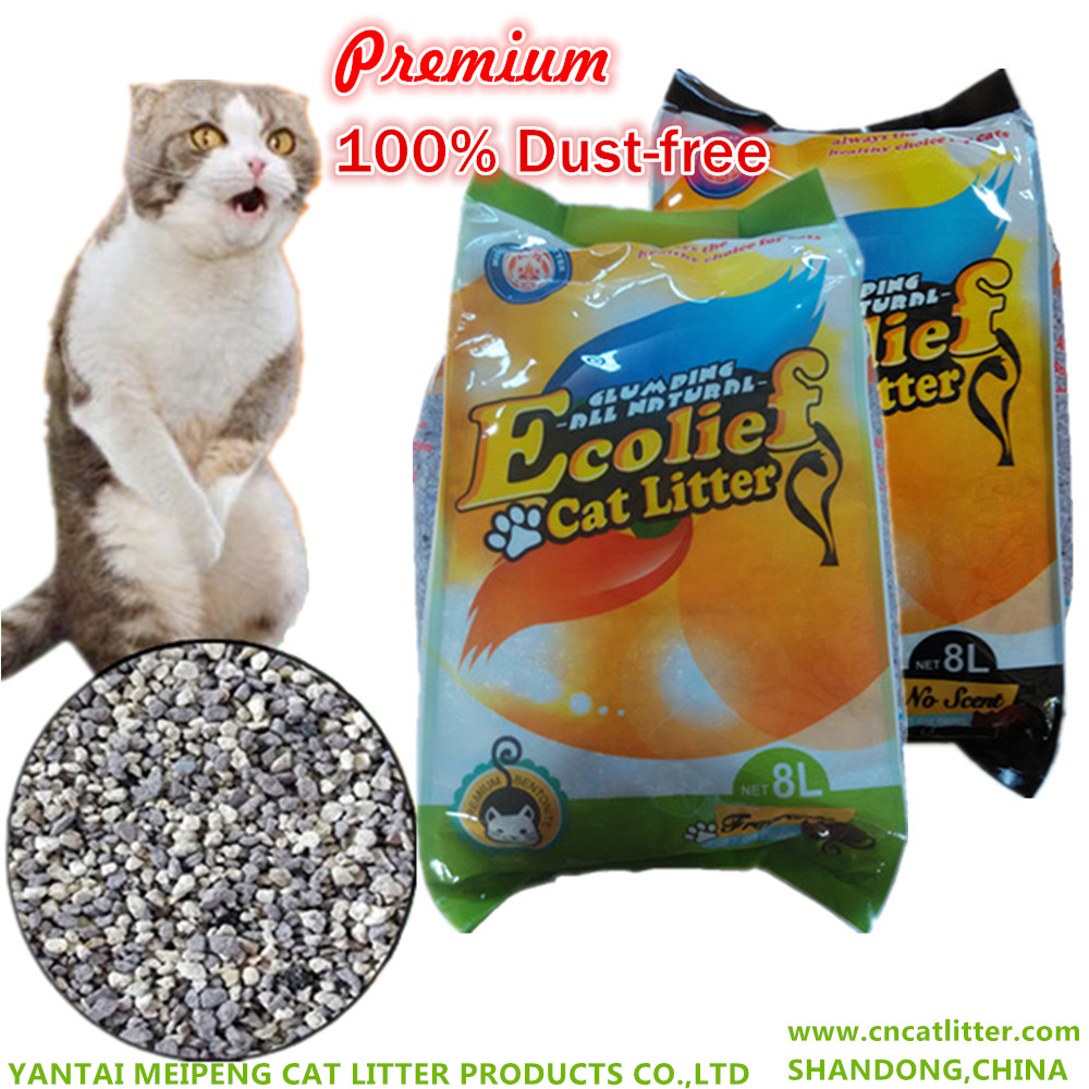 Ecolief premium bentonite cat litter good clumping