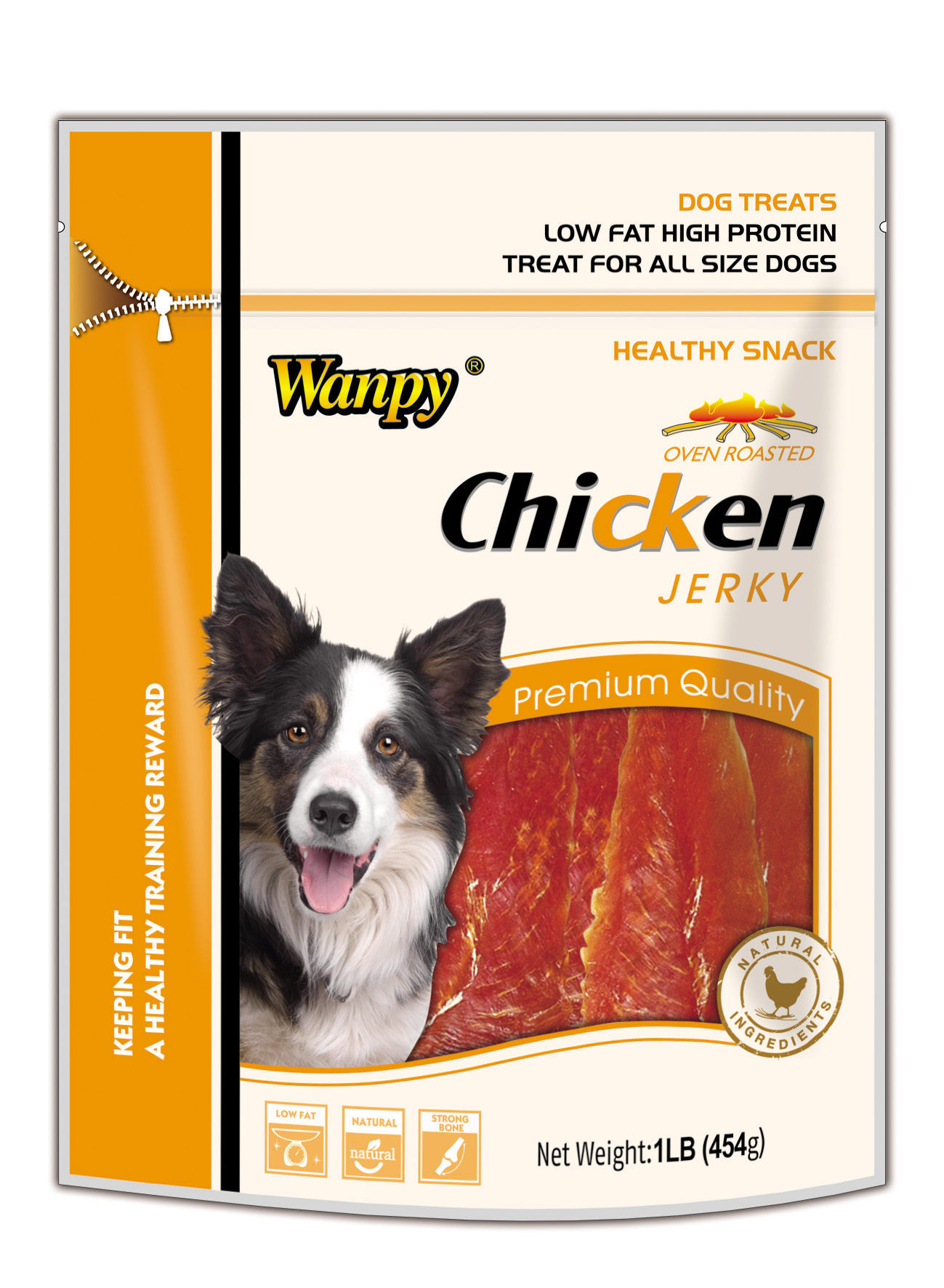 Dry Chicken Jerky, High in Protein, Good for Pregnant and Postpartum Dogs