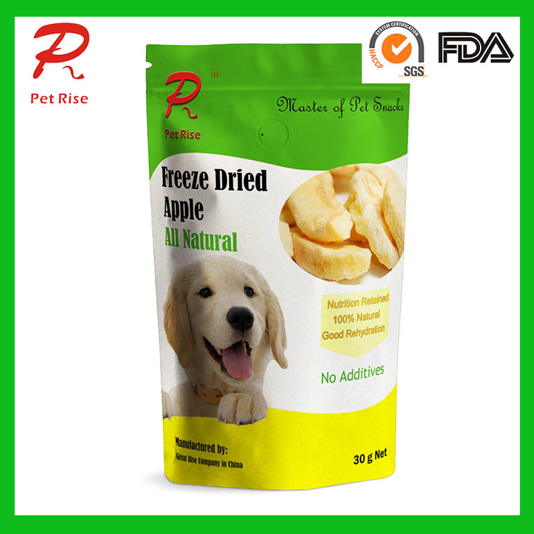 Pet Rise Natural Freeze Dried Apple as Dog Snacks