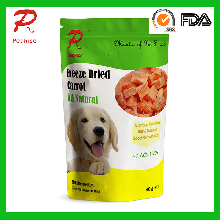 Pet Rise Freeze Dried Carrot as Dog Snacks