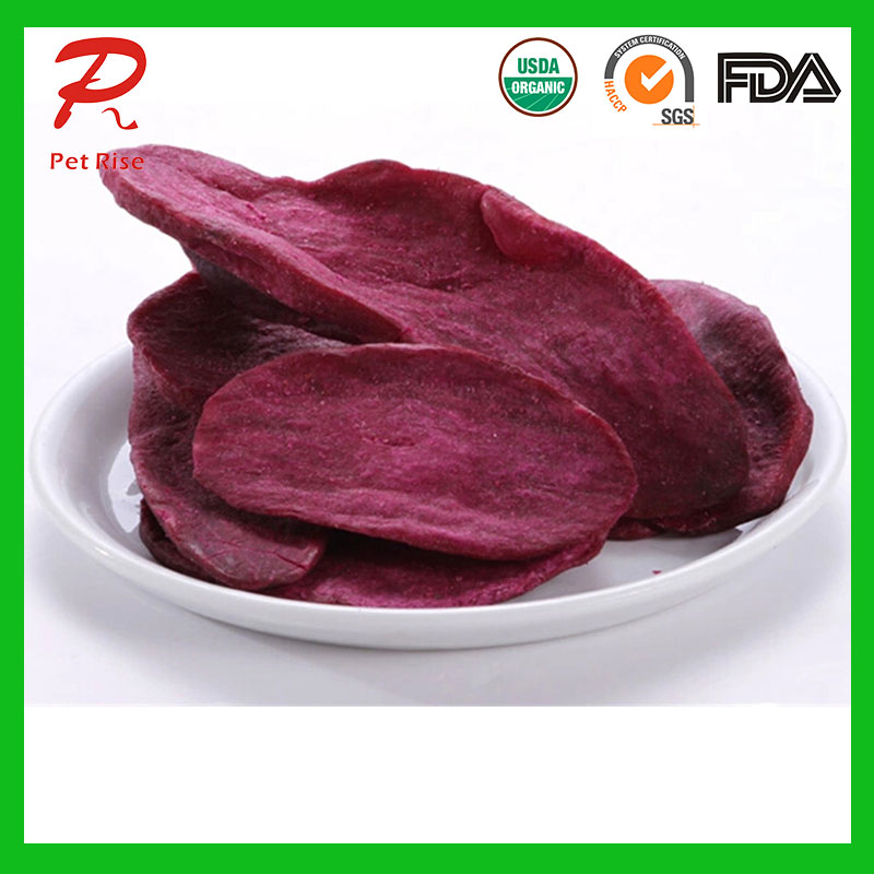 Vacuum Fried Purple Sweet Potato Chips/Fries Dog Snacks