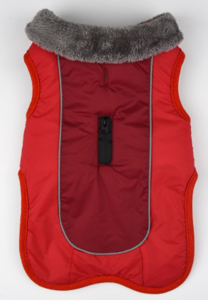 Warm reversible waterproof dog coat for Autumn and Winter.