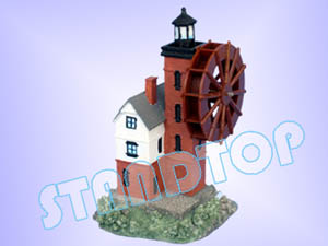 Light Tower with Water Wheel