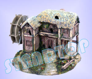 hut with Water Wheel