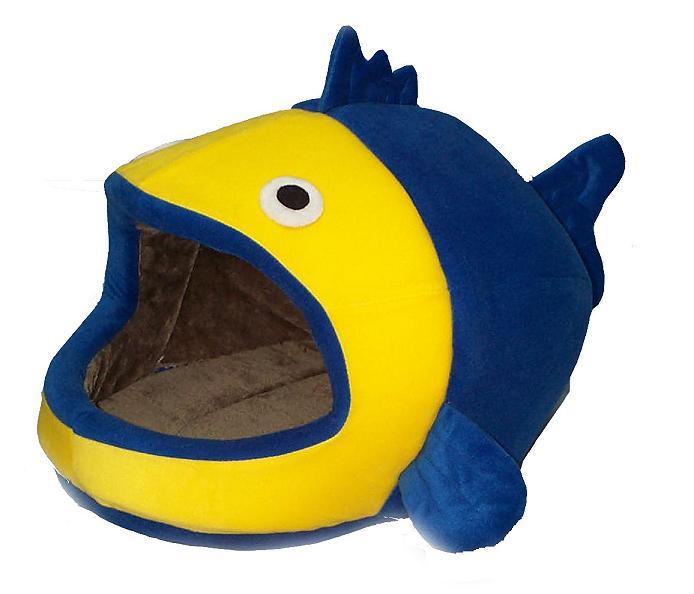 Fish-shape cat bed