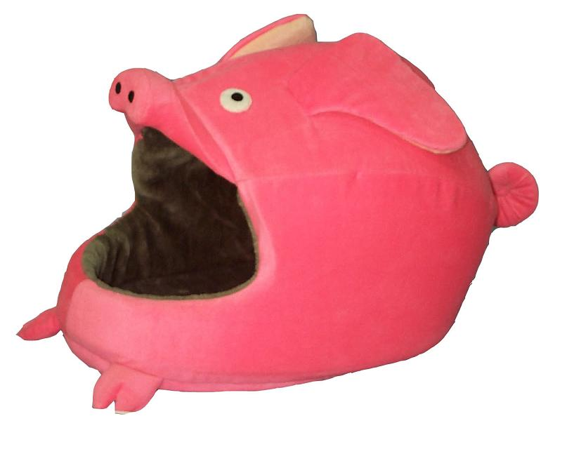 Pig-shape cat bed